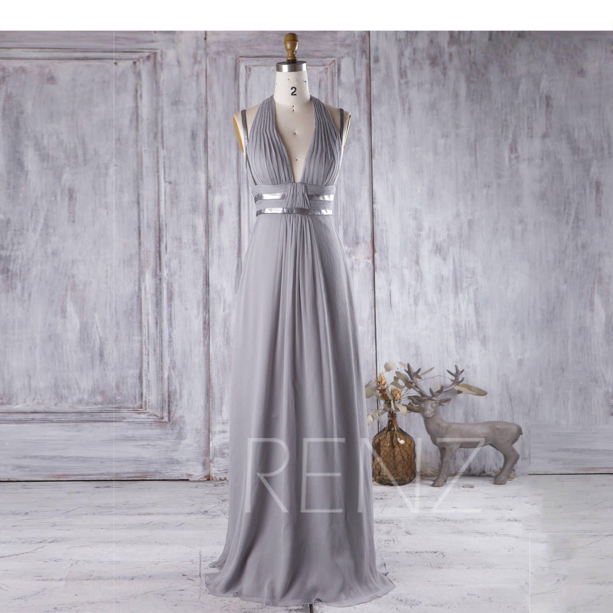 50: Silver V Neck Wedding Dress At Websimilar.org