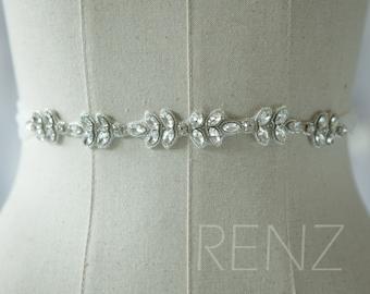 Wedding Sash, Bridal Belt, Bridal Sash, Bridesmaids Sash Crystal Sash Jewelly Belt (LA177A)