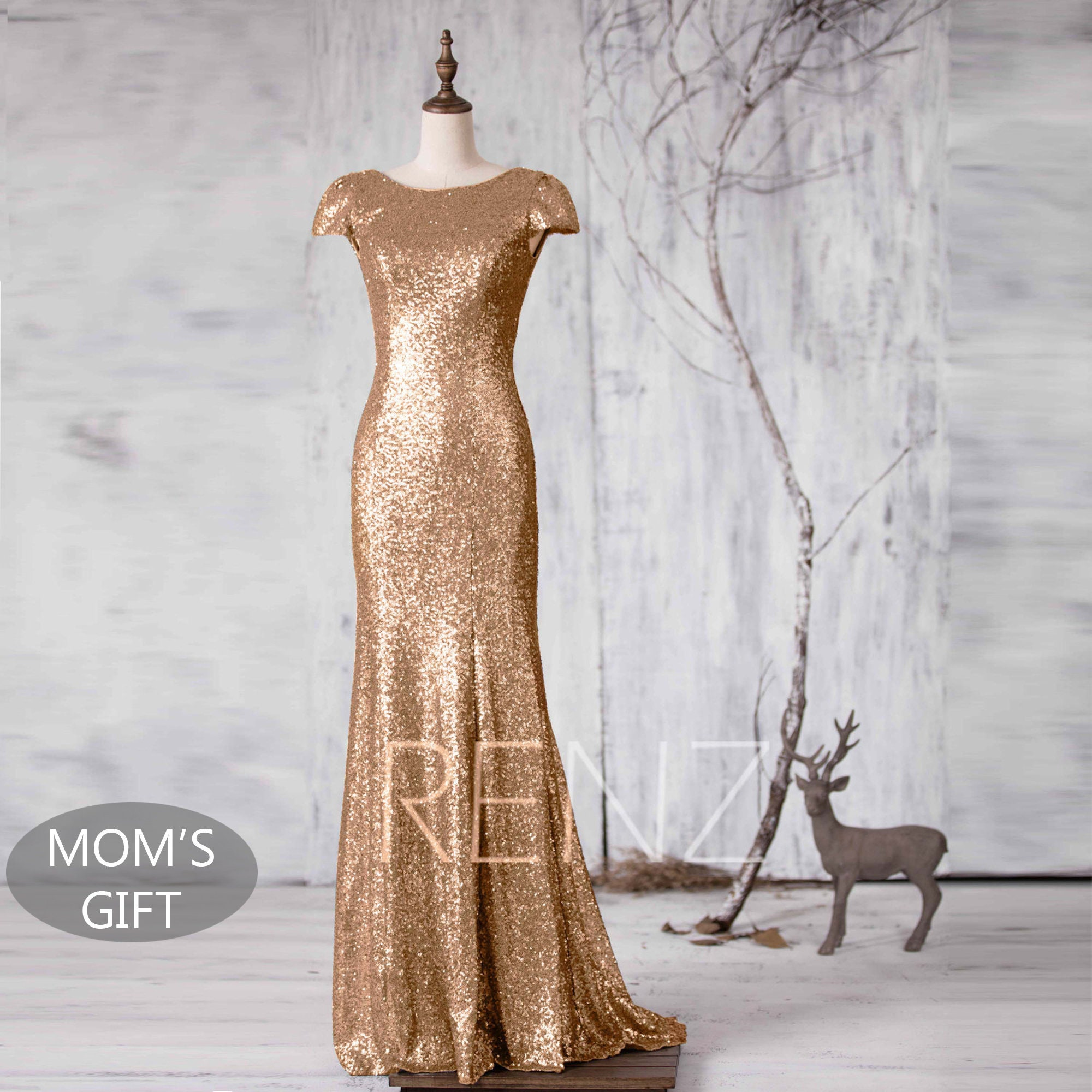 920c5bfc6df Gold Sequin Dress Mermaid Mother s Day Gift From Daughter