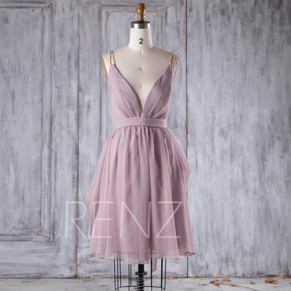 lavender chiffon dress