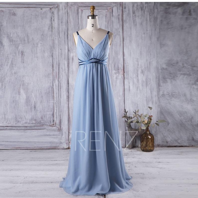 Party Dress Baby Blue Bridesmaid Dress Empire Waist Wedding  84e45a1fe1b9