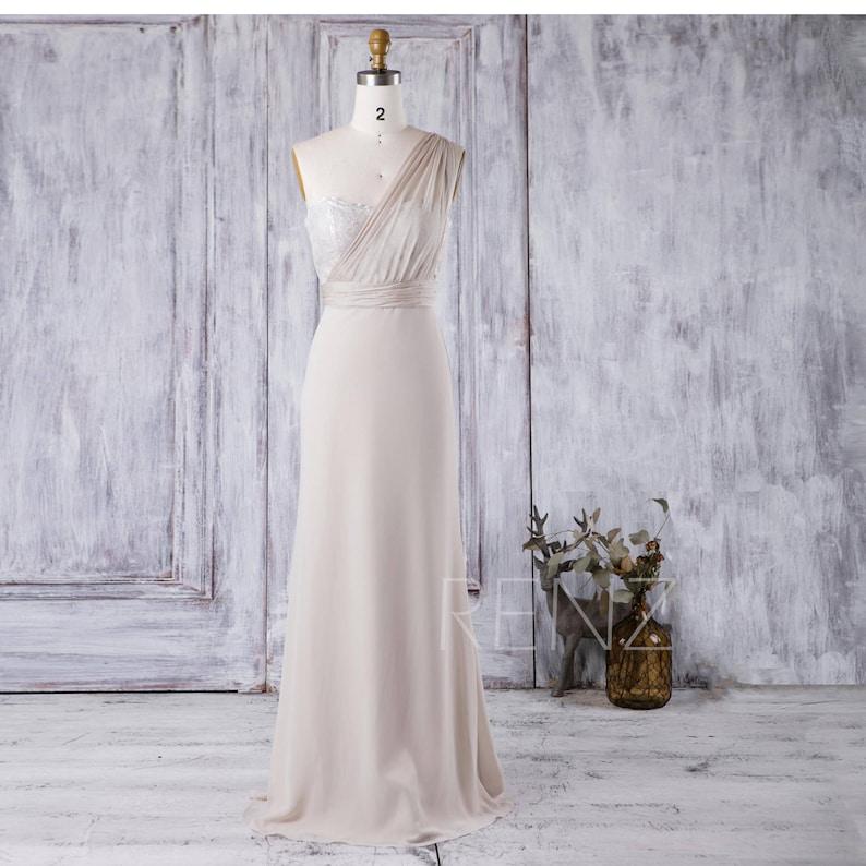 8c10503322001 Bridesmaid Dress Cream Chiffon Dress Wedding Dress Sweetheart | Etsy