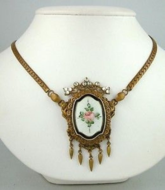 Edwardian Guilloche  Necklace