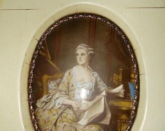 Miniature Painting Madam Pompadour