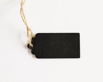 5 Chalkboard Scallop Wood Tags