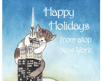 Cats in New York City Holiday Card