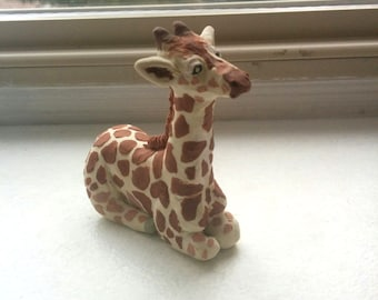Handmade Clay Young Giraffe