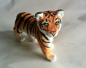 Handmade Clay Tiger