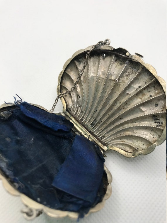 Rare Sterling Silver Shell Coin Purse - image 7