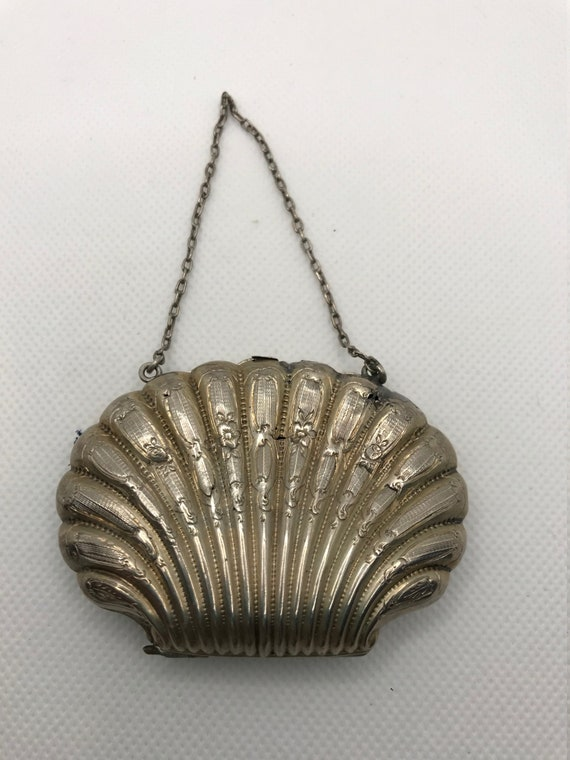 Rare Sterling Silver Shell Coin Purse - image 2