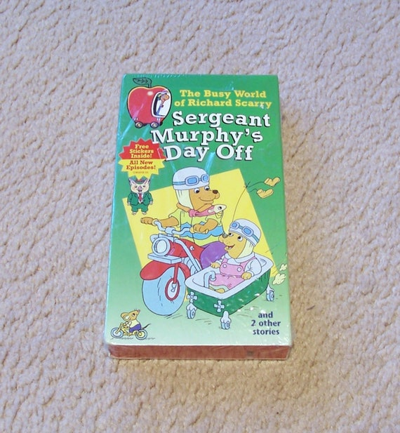 Richard Scarry VHS Tape Sergeant Murphy's Day Off