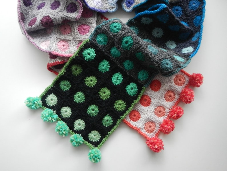 Cityscapes Scarf  Crochet Pattern  Apple Blossom Dreams image 0