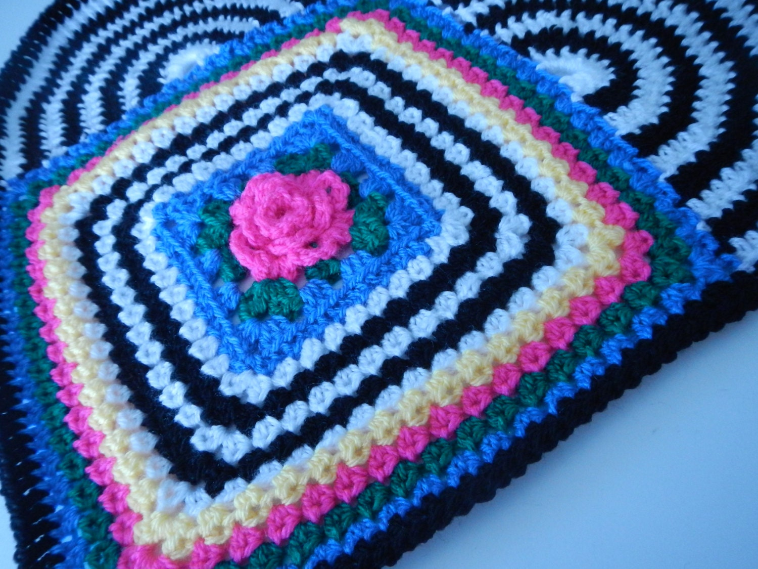 Crocheted Rose Heart Pillow Pattern With Granny Rose Etsy