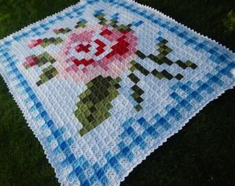 La Vie en Rose Afghan with Border Crochet Patterns