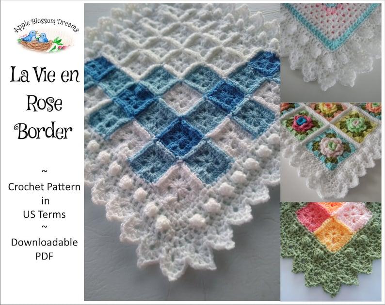 La Vie en Rose Border/Edging  Crochet Pattern Instant image 0