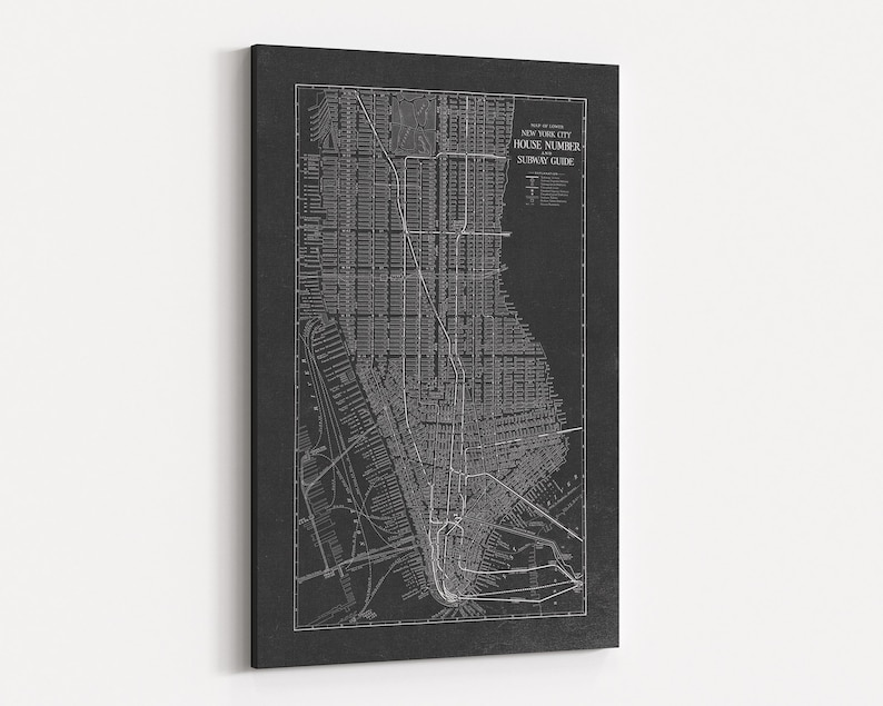 Nyc Subway Map Canvas Wall Art.Huge New York City Canvas 40x60 Inches Manhattan Map New York City Wall Art Nyc Map Nyc Wall Art Large Nyc Canvas New York Canvas