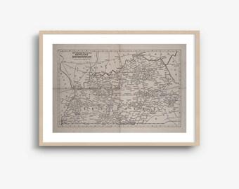 INSTANT DOWNLOAD - Kentucky State Map, Kentucky Map Download, Kentucky Art Print, High Resolution Download, 8x10, 16x20 Inch