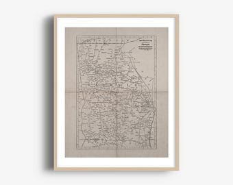 INSTANT DOWNLOAD - Georgia State Map, Georgia Map Download, Printable Map, Georgia Art Print, High Resolution Download, 8x10, 16x20 Inch