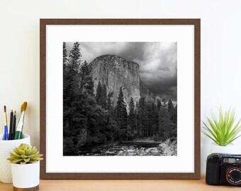 El Capitan, Yosemite National Park, Framed Photography Print, Yosemite Print, National Parks, Yosemite Art, Black and White Framed Art