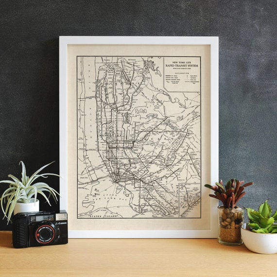 How To Purchase A Good New York City Subway Map.Printable Nyc Subway Map New York City Subway Art Nyc Transit Map Vintage New York City Map Art Manhattan Brooklyn Queens Bronx