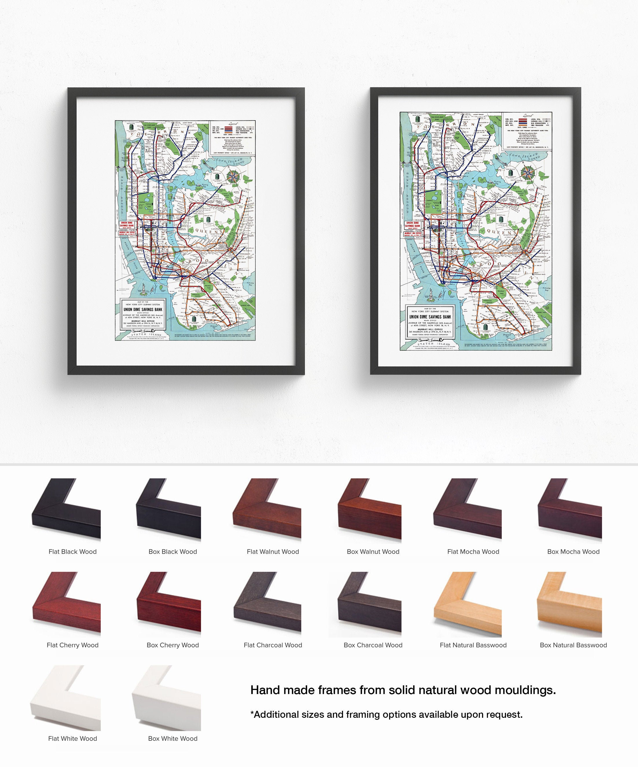 Framed New York Subway Map.New York City Subway Map Framed Wall Art