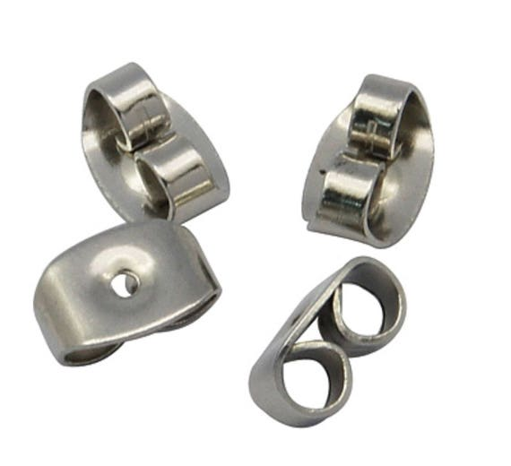 10 x  12mm BEZEL Stud Earring with 2mm LOOP Completely Surgical Stainless Steel