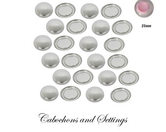 50 x Pick a Size  Fabric Self Cover Button FLAT back with Free Tool &  Instructions Choose Your Size - AUSTRALIA