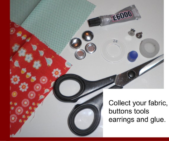 15mm Fabric Cover Button Earrings DIY KIT Stud Stainless Steel New Style  Flatback - AUSTRALIA