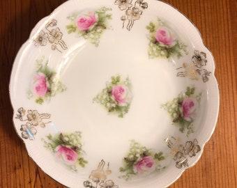 Seville Fine China pink rose berry bowls