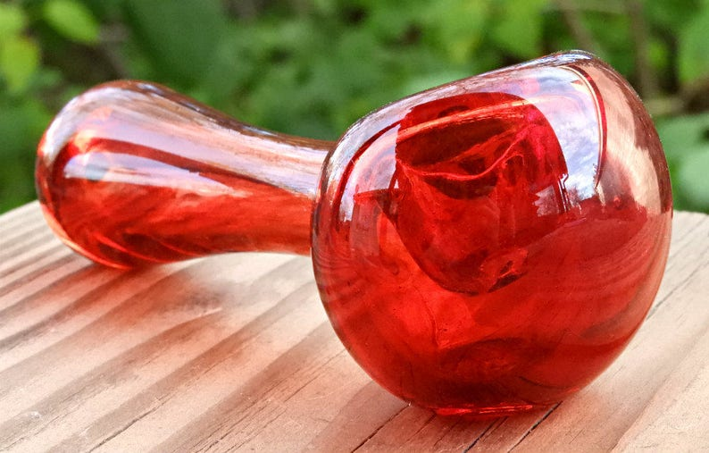 Glass Pipes Tobacco Pipe Gifts for Him Red Glass Pipes Gifts for Her Glass Smoking Pipes Pipes for Smoking