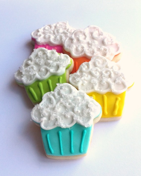 Mini Cupcake Sugar Cookies - 3 Dozen by Picket Fence