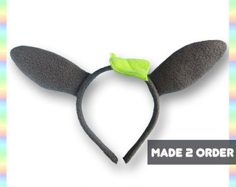 a7a87c2059e Totoro-Inspired Ears Headband - Fleece Anime Geek Gift Grey Green Cute  Kawaii Cosplay Adult Teen Child