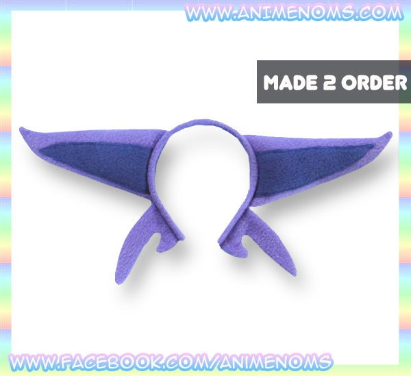 Espeon Ears Headband Fleece Anime Geek Gift Pokemon Purple   Etsy