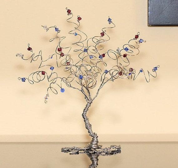 Family Tree Birthstone Keepsake Sculpture Swarovski Crystal | Etsy