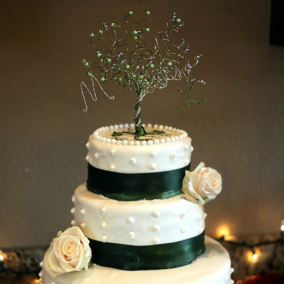 When Two Become One Wedding Cake Topper Tree Custom Wire Etsy