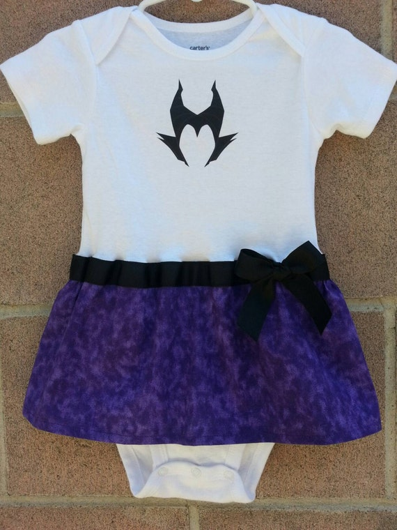 Maleficent Inspired Baby Girl Outfit