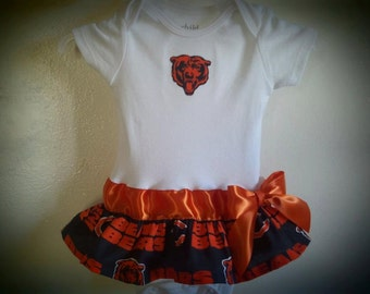Chicago Bears inspired baby girl outfit
