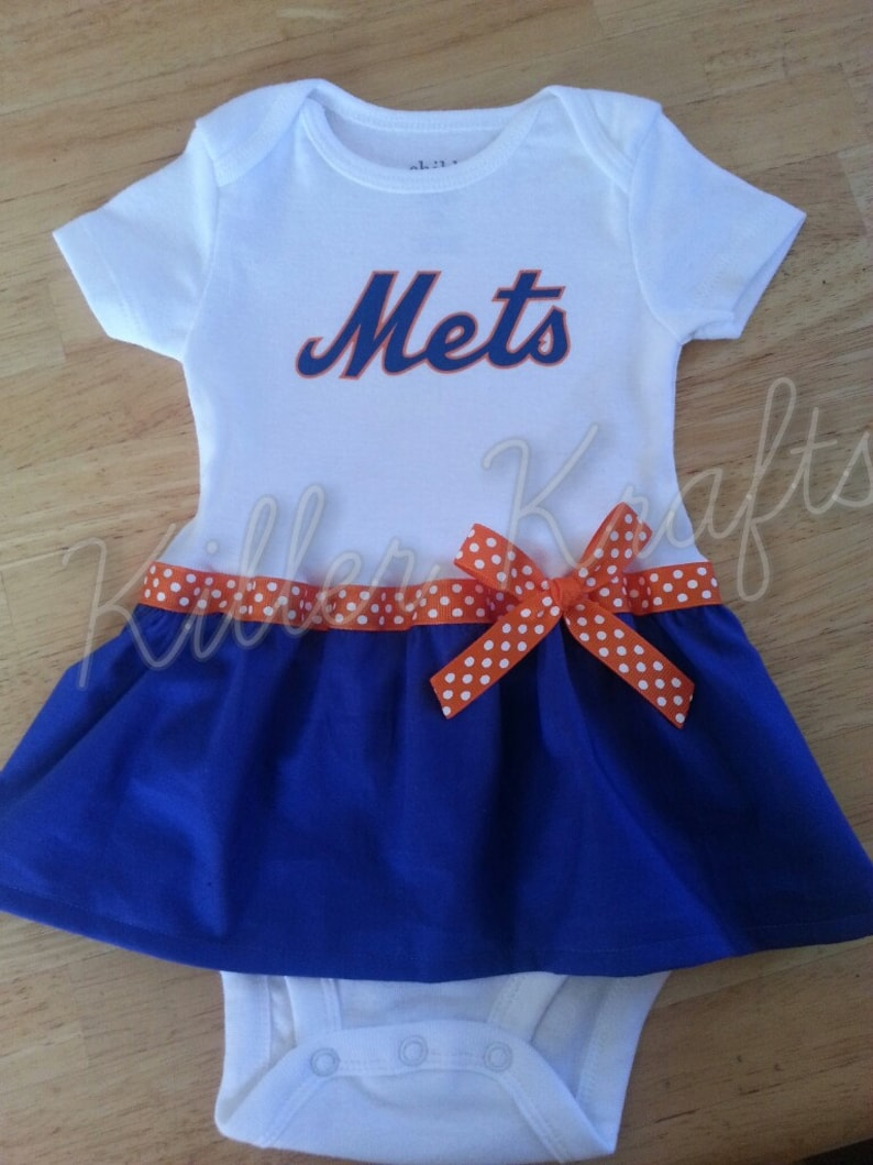 a1cd94b89 New York Mets inspired baby girl outfit | Etsy