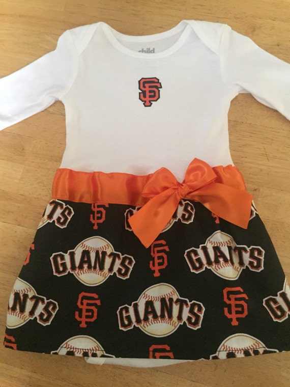 fa1455d9 San Francisco Giants inspired baby girl outfit | Etsy