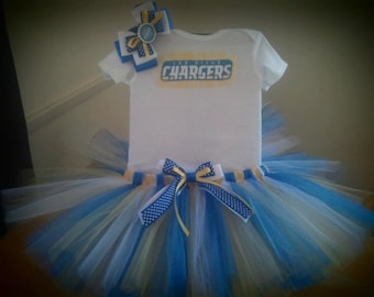 San Diego Chargers inspired tutu outfit