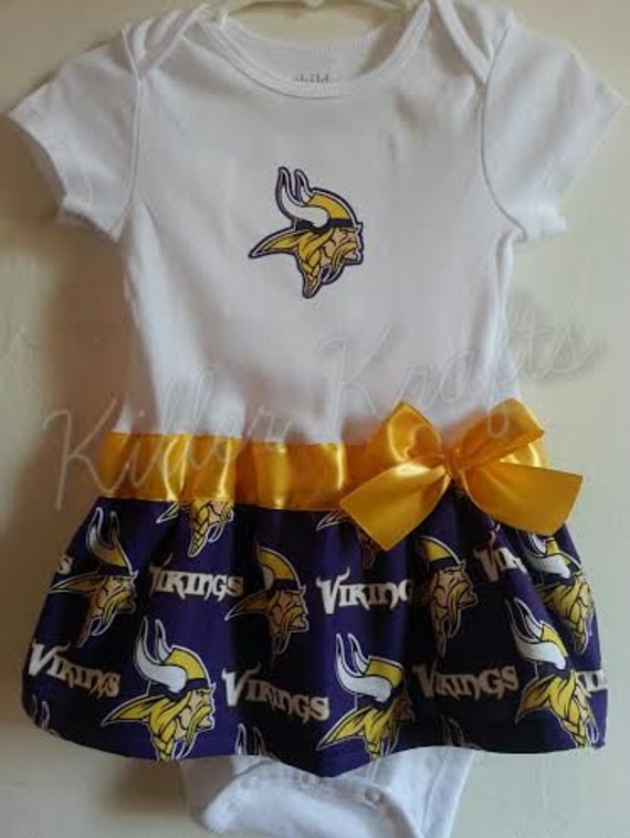 Minnesota Vikings Inspired Baby Girl Outfit