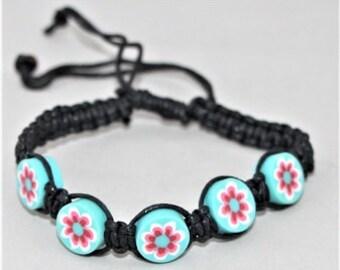 Bloemetjes Armband, Kralen armbandje, Flower beads bracelet