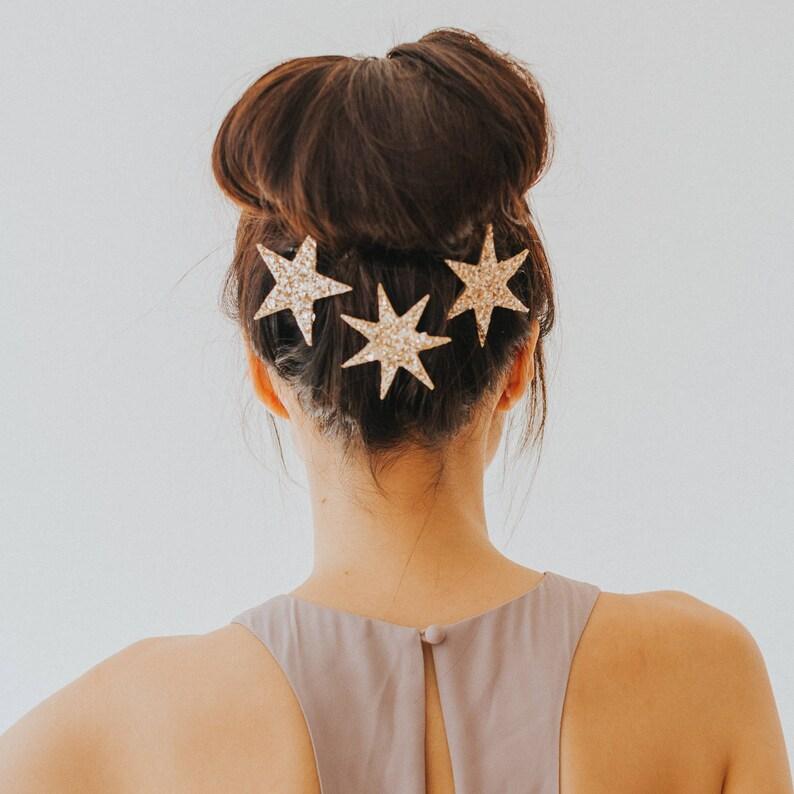 Glitter Star Clip Trio image 0