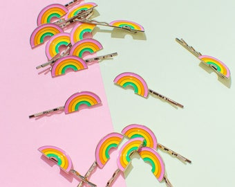 Rainbow Brite Bobby Pin Pair