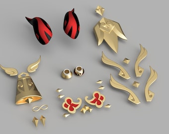 Ganyu's Accessories [3D Print Files]
