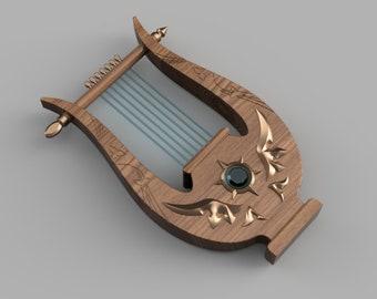 Venti's Lyre [3D Print Files]
