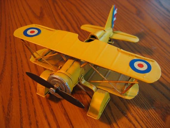 Yellow SOPWITH CAMEL Bi-plane Metal Airplane Model from WWI   Etsy