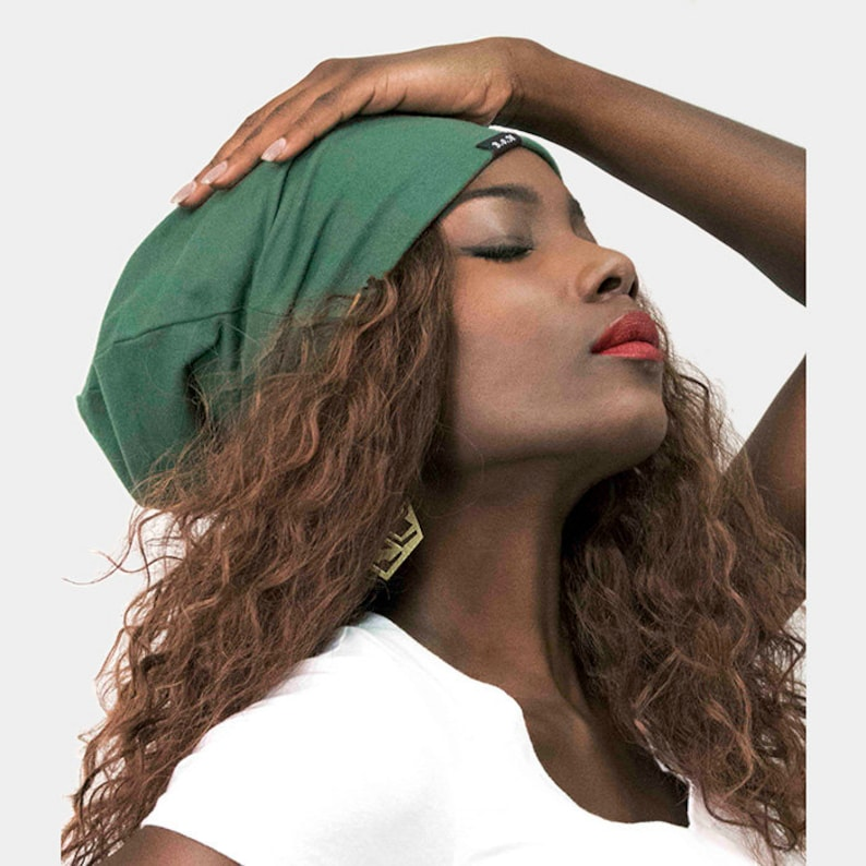 Beanie Satin Lined Green In Style Ships Free