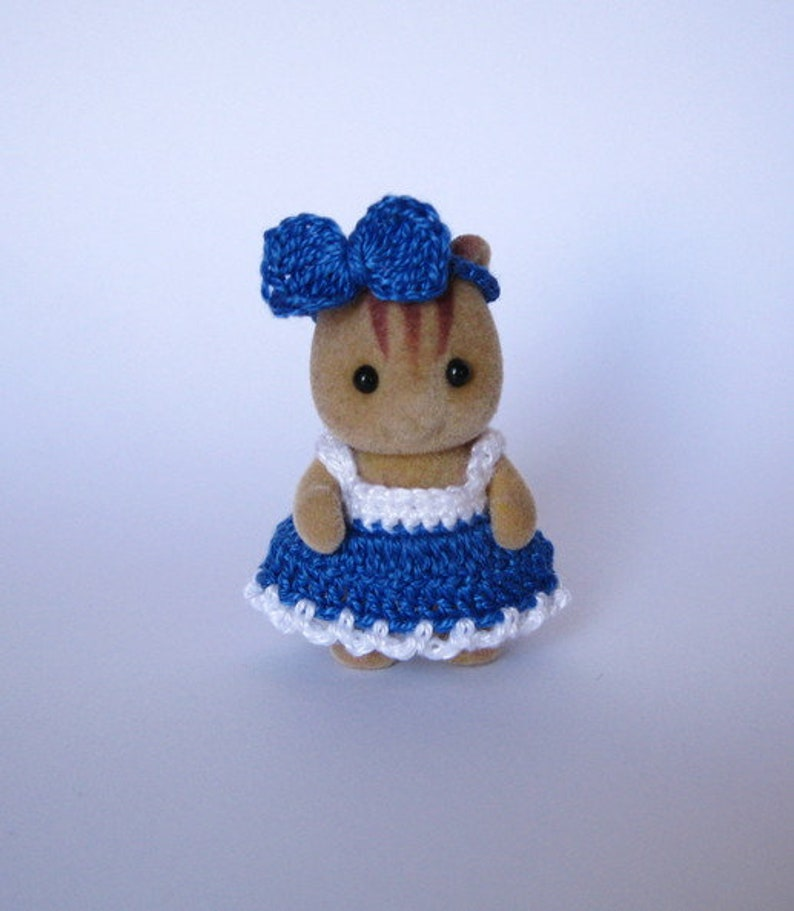 """Calico Critters Twins Dress//Sylvanian Families  Clothes for BABY TWINS   1.8/"""""""