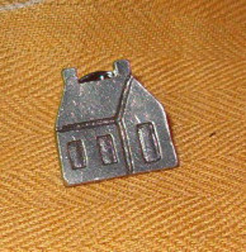 Little Windows and Door Tiny 34H House Pin Back Cherished Home Realtor Homeowner Reminder to Save Money For Home All Metal Wishes